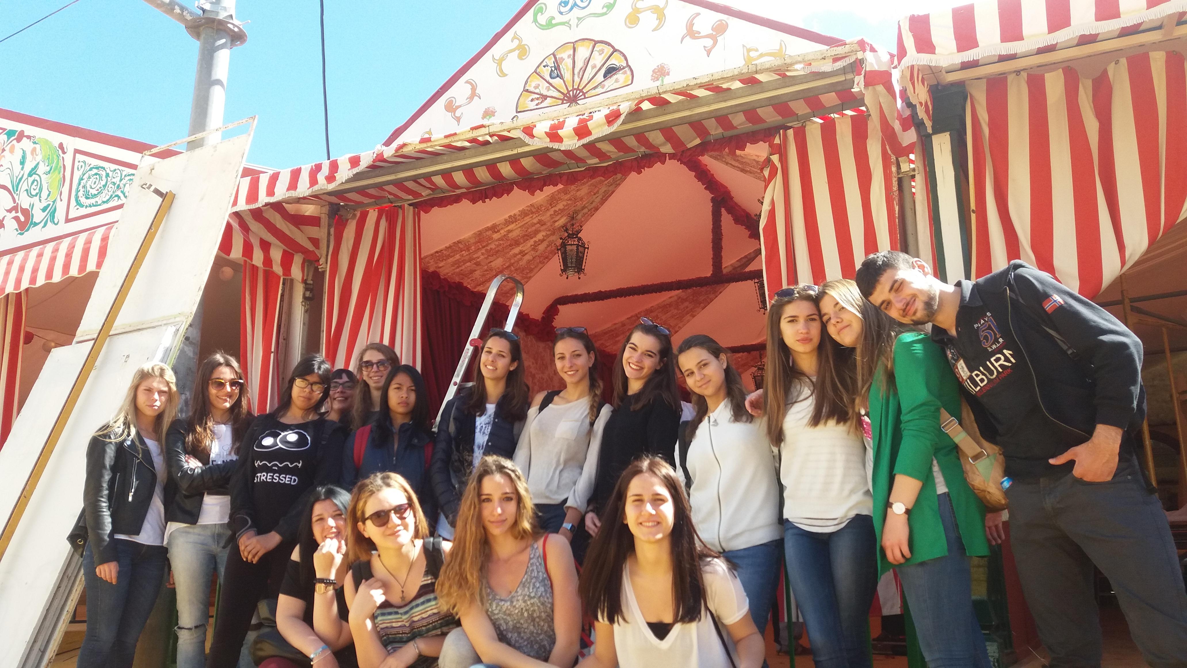 Visita a la feria de Abril de Sevilla