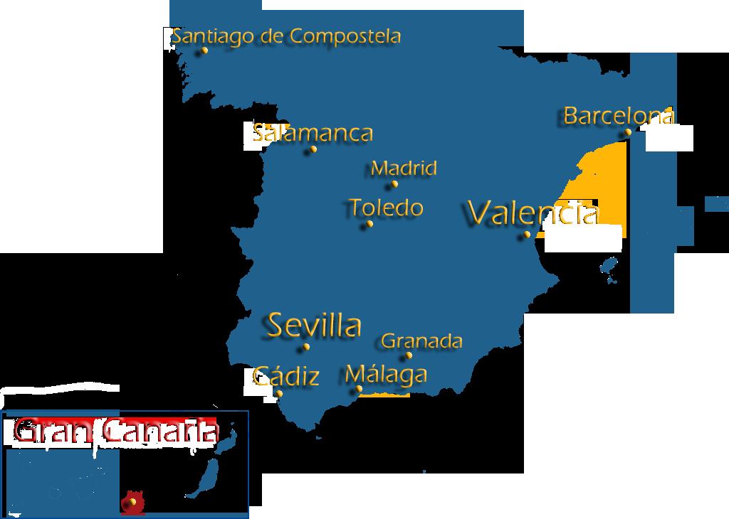 Red Ave España Mapa.Instituto San Fernando S L Spanish Language And Culture
